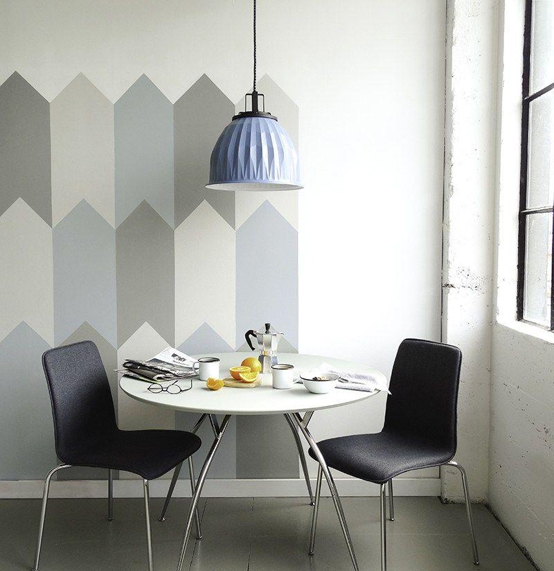 Wandgestaltung mit geometrischen Motiven - das Esszimmer aufpeppen ...