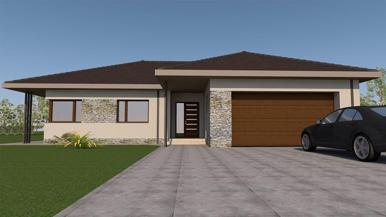 Best Családi Ház Tervezés Mohács 06 Flat Roof House Prairie 400 x 300