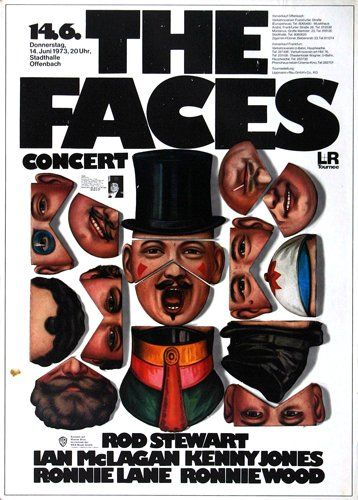 Rod Stewart & The Faces - First Step 1971 - Poster Plakat Konzertposter