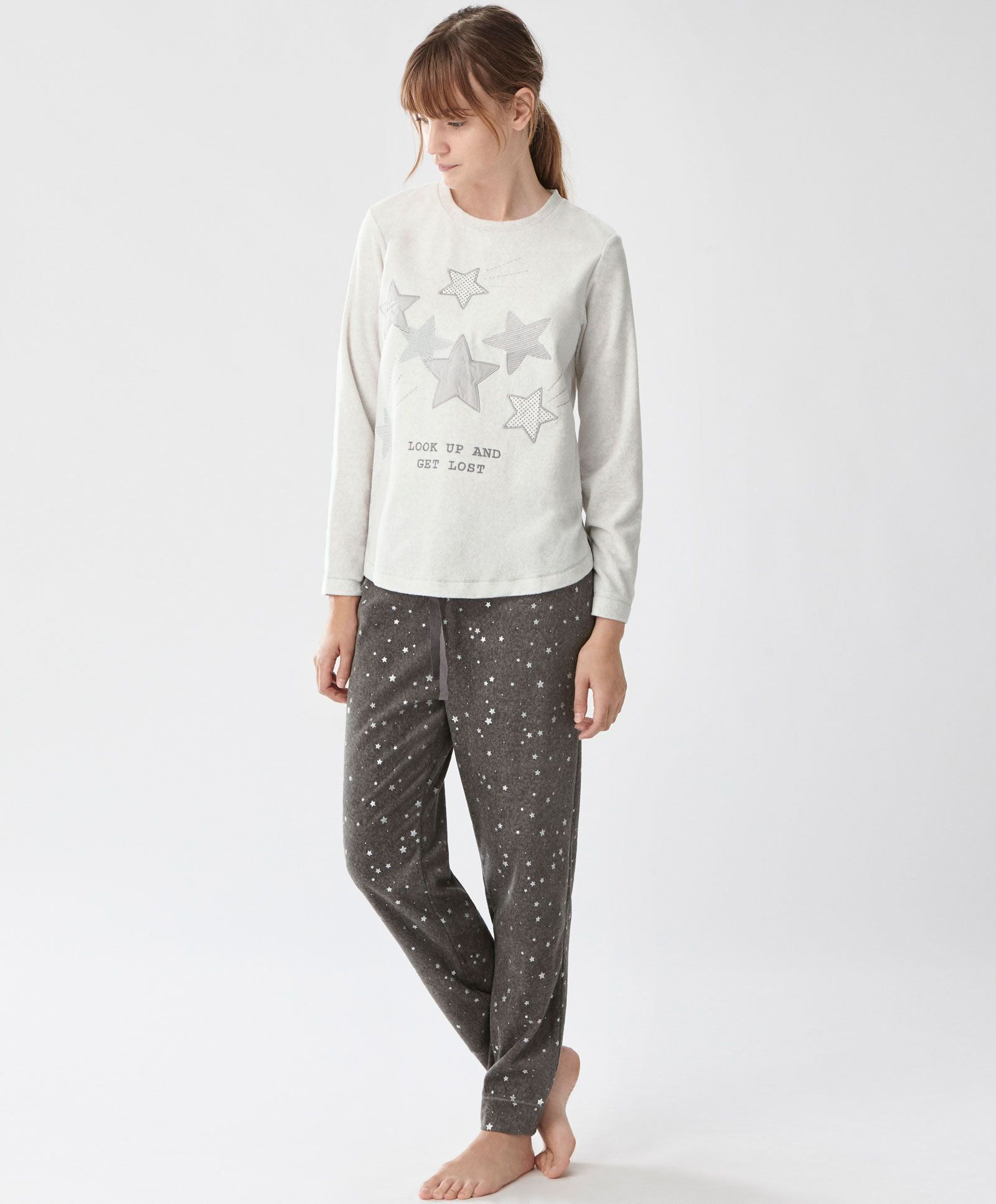e0f6065403664 Stars pants - Fleeces - PYJAMAS | Oysho | WinterSleepWishes in 2019 ...