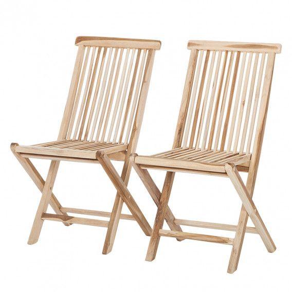 Klappstuhl Teakline Classic I 2er Set Gartenstuhle Aussenmobel Stuhle