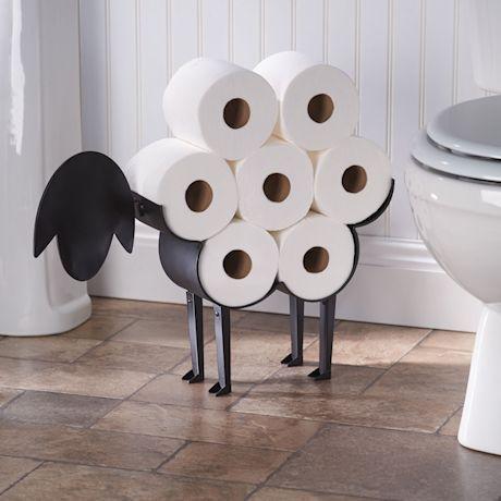 Schaf-Toilettenpapierhalter #toiletpaperrolldecor