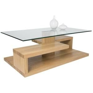 Table Basse Bois Chene Sauvage Dim 100 X 60 X 40 Cm Table