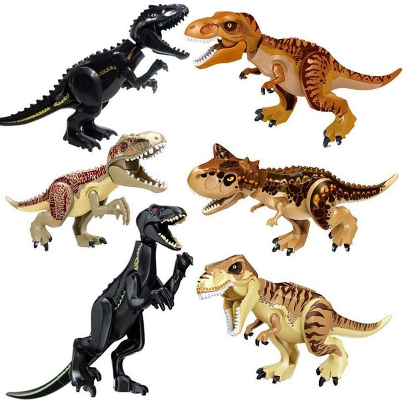Carnotauras Blue Jurassic World Park 6 Inches Tall Big Dinosaur Building Blocks