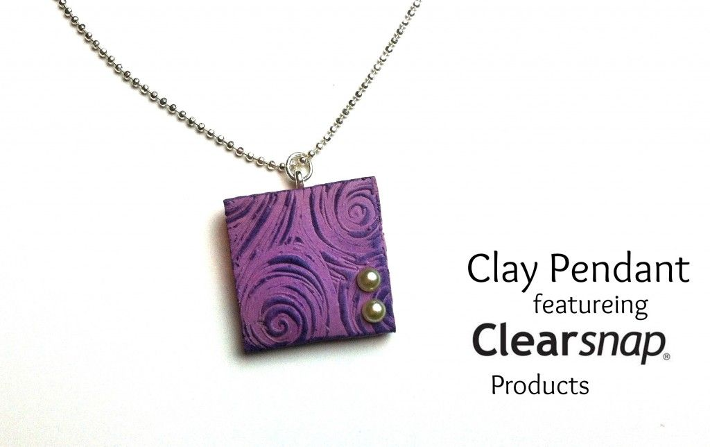 Clay Pendent with Clearsnap Products
