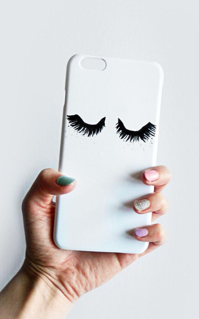 Fluttery Eyelash Print Phone Case I Want Fashion Beauty Girly
