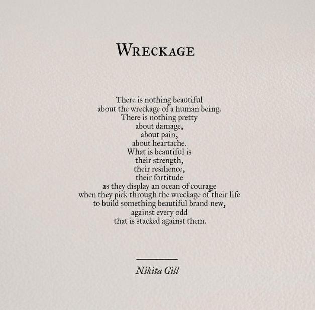 Wreckage….