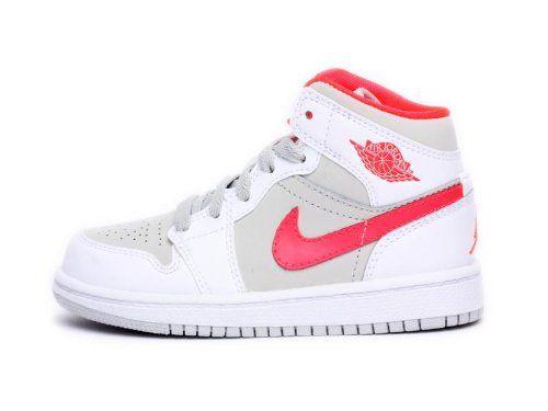 Jordan Kids Girls 1 Phat (Ps) White Red 364782-119