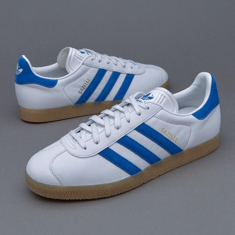 Mens Shoes - adidas Originals Gazelle - Vintage White / Bold Blue ...