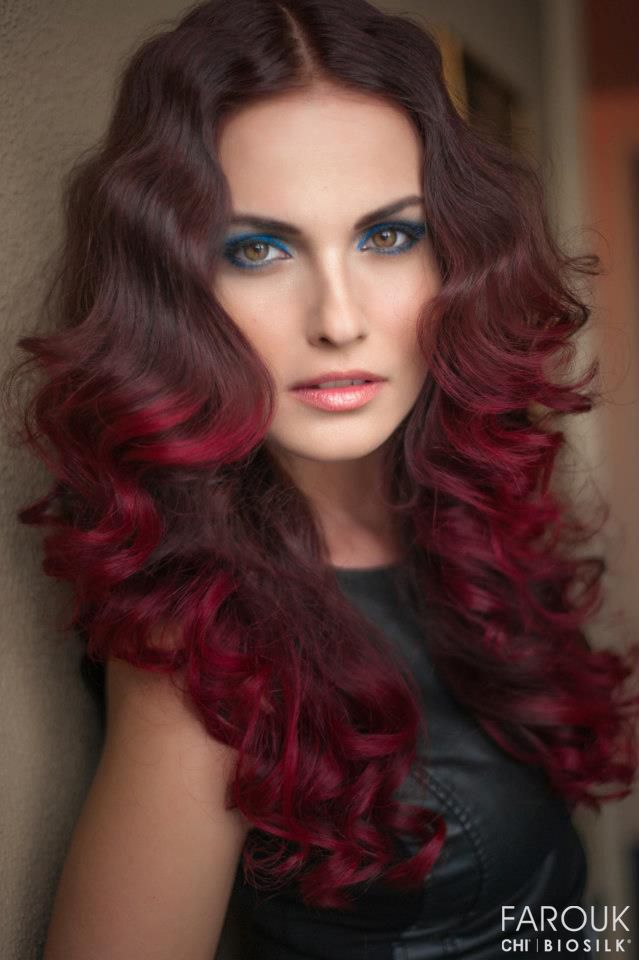 Hair Color Love Chi Red Violet Ombre Chitoppin Color Craze Red