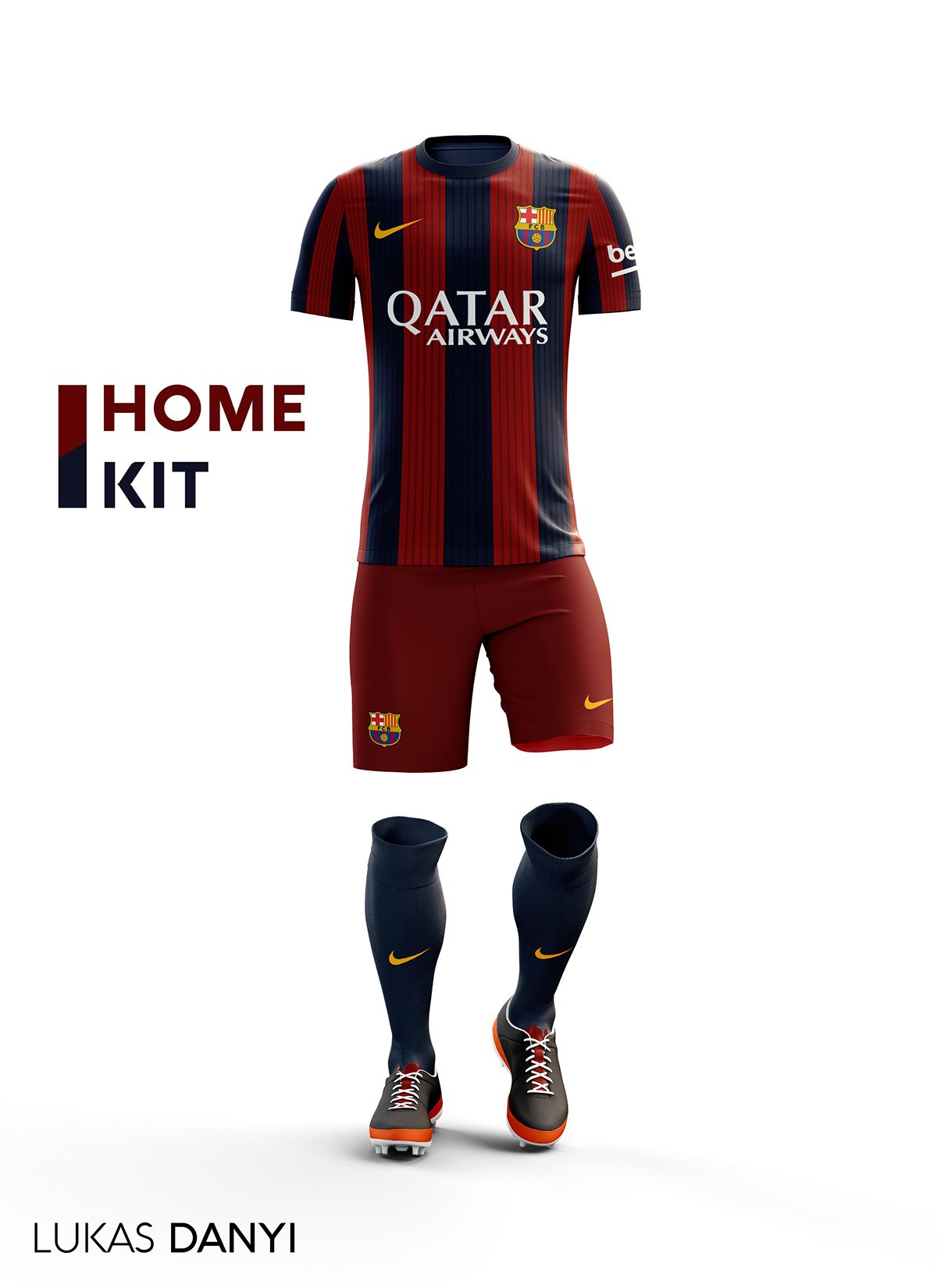 I designed football kits for Fc Barcelona for the upcoming season 16 ... d8706416ad71b