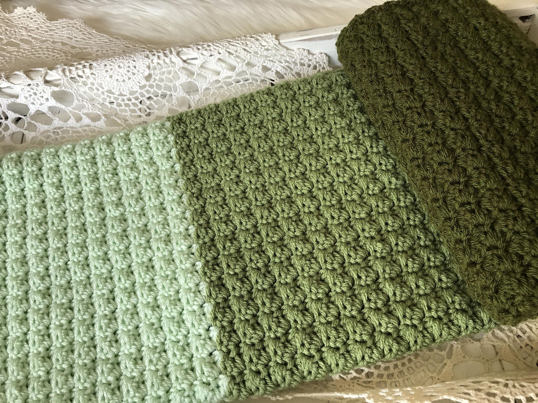 Crochet Baby Blanket - Knit Baby Blanket - Stroller Travel Blanket ...