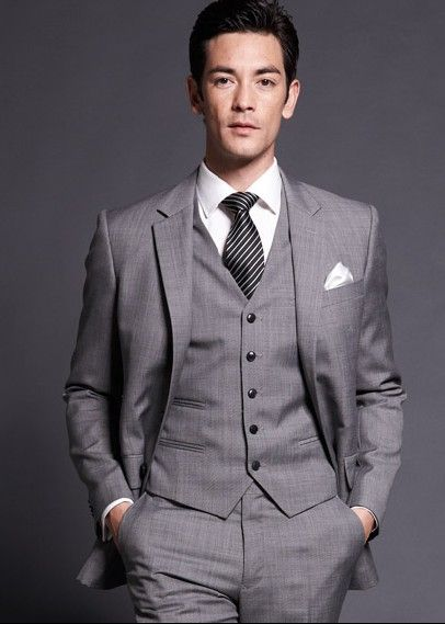Medium Gray Three Piece Suit for Men | Men Suits | Pinterest ...
