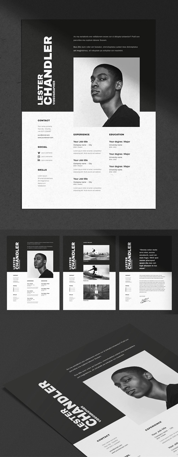 Resume Templates with Cover Letters - Graphic design resume, Resume design creative, Graphic resume, Resume design, Cv resume template, Graphic design cv -  Resume Templates for lasting impression  In current employment market, only eyecatching clean and creative Resumes can stay