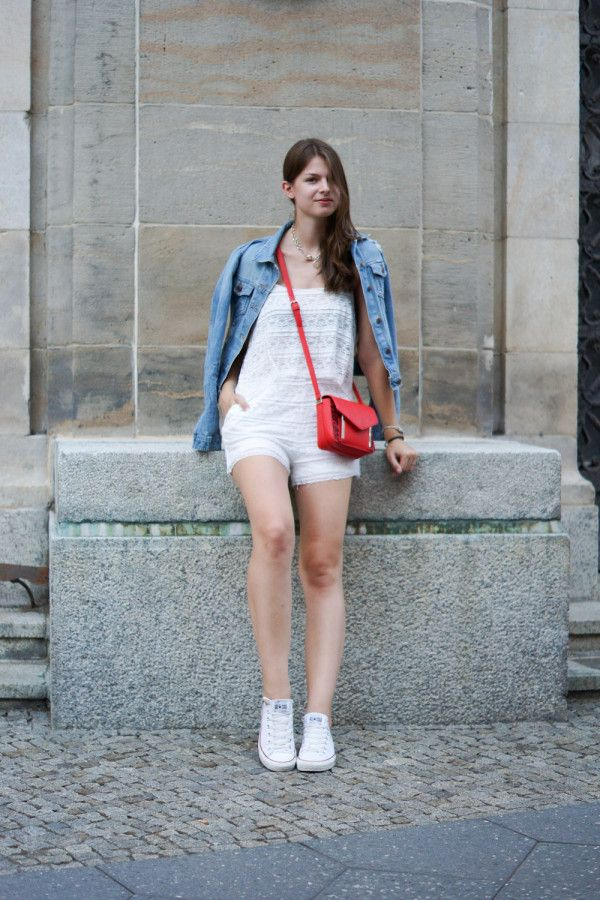 Lace & Jeans Kombination | Outfits with converse, White