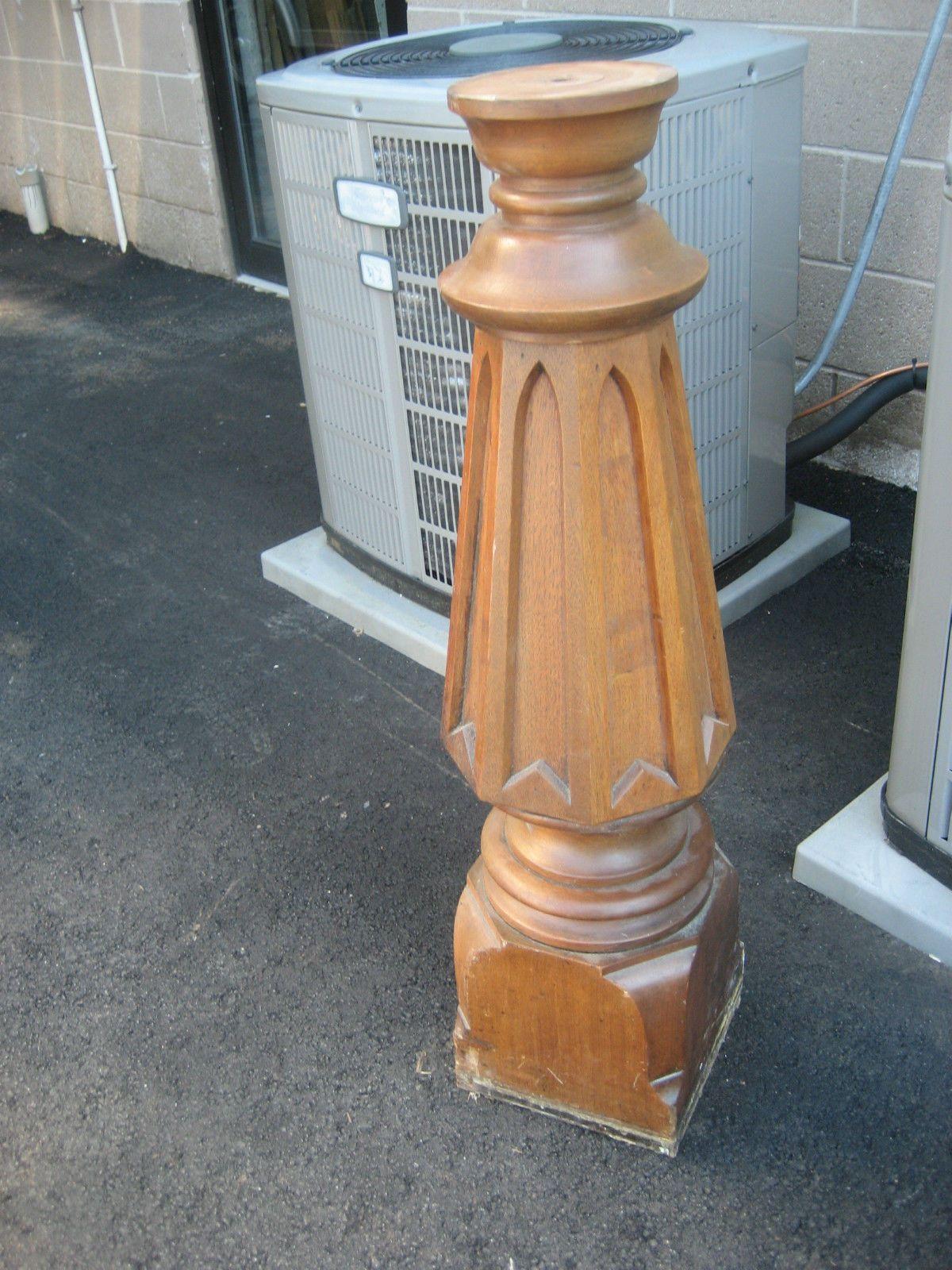 Circa 1860 70 Victorian Black Walnut Stair Railing W Balusters Amp Newel Post Stair Railing Stairs Newel Posts