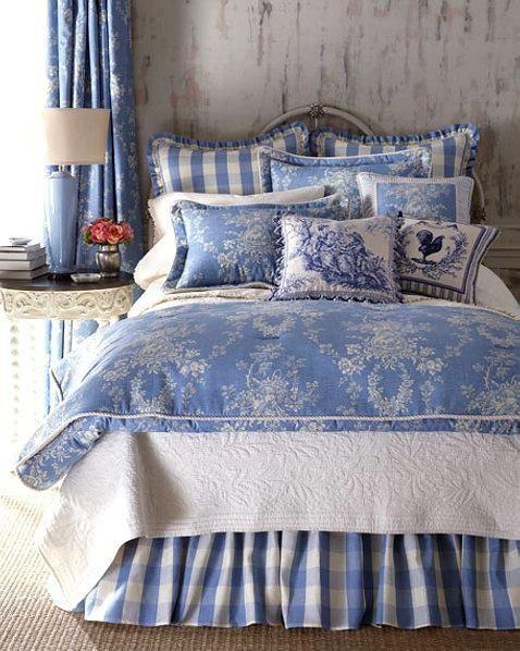 Toile de Jouy addict!!! | Dormitorios, Ropa de cama