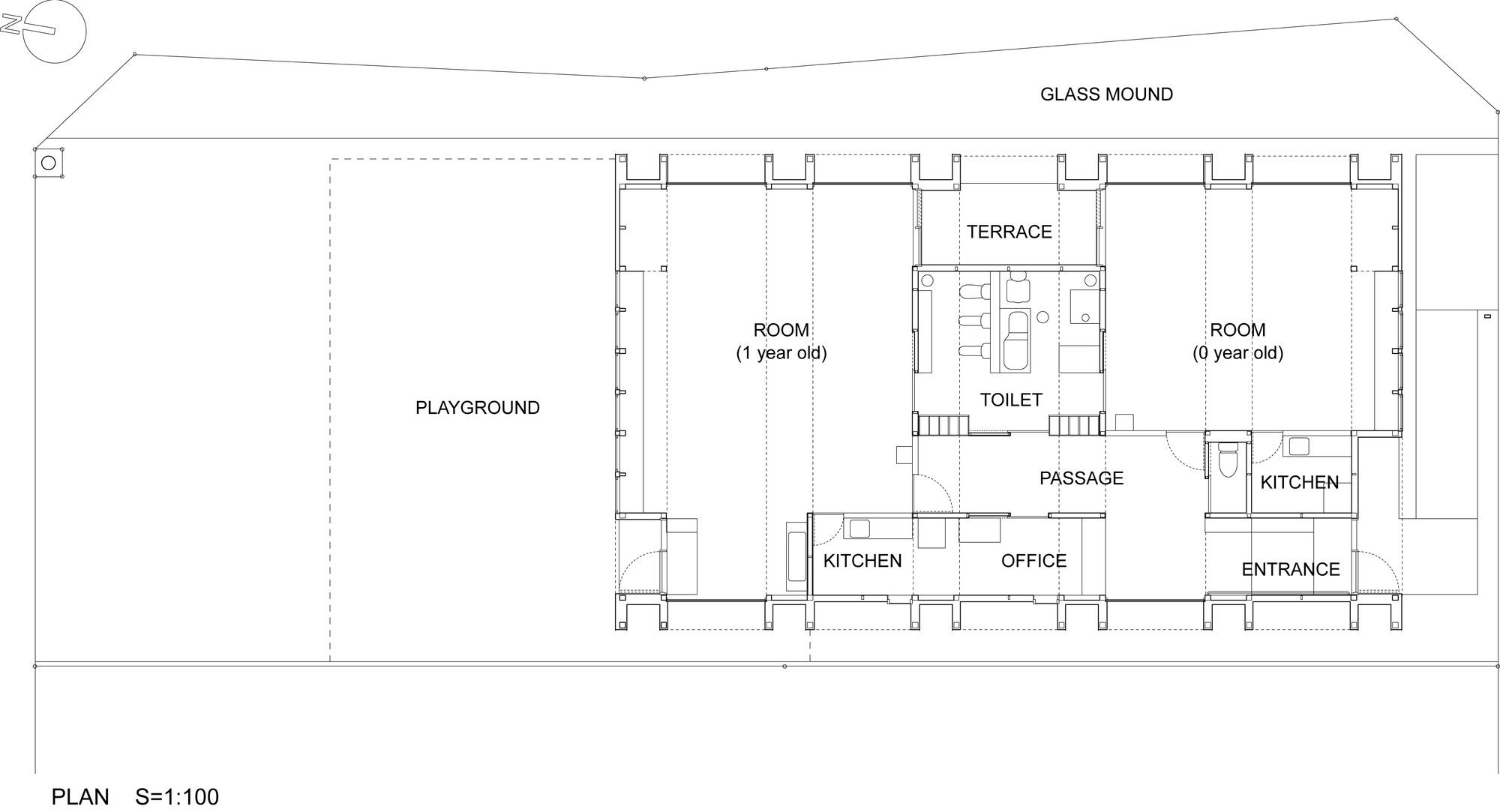 Gallery Of T Nursery Uchida Architect Design Office 12 Architect Design Office Floor Plan Office Design