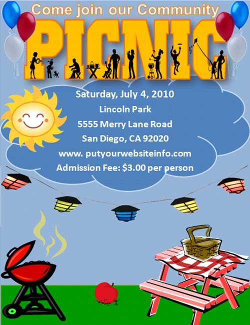 Free Template For A Picnic Invitation Or Party I Used This For A