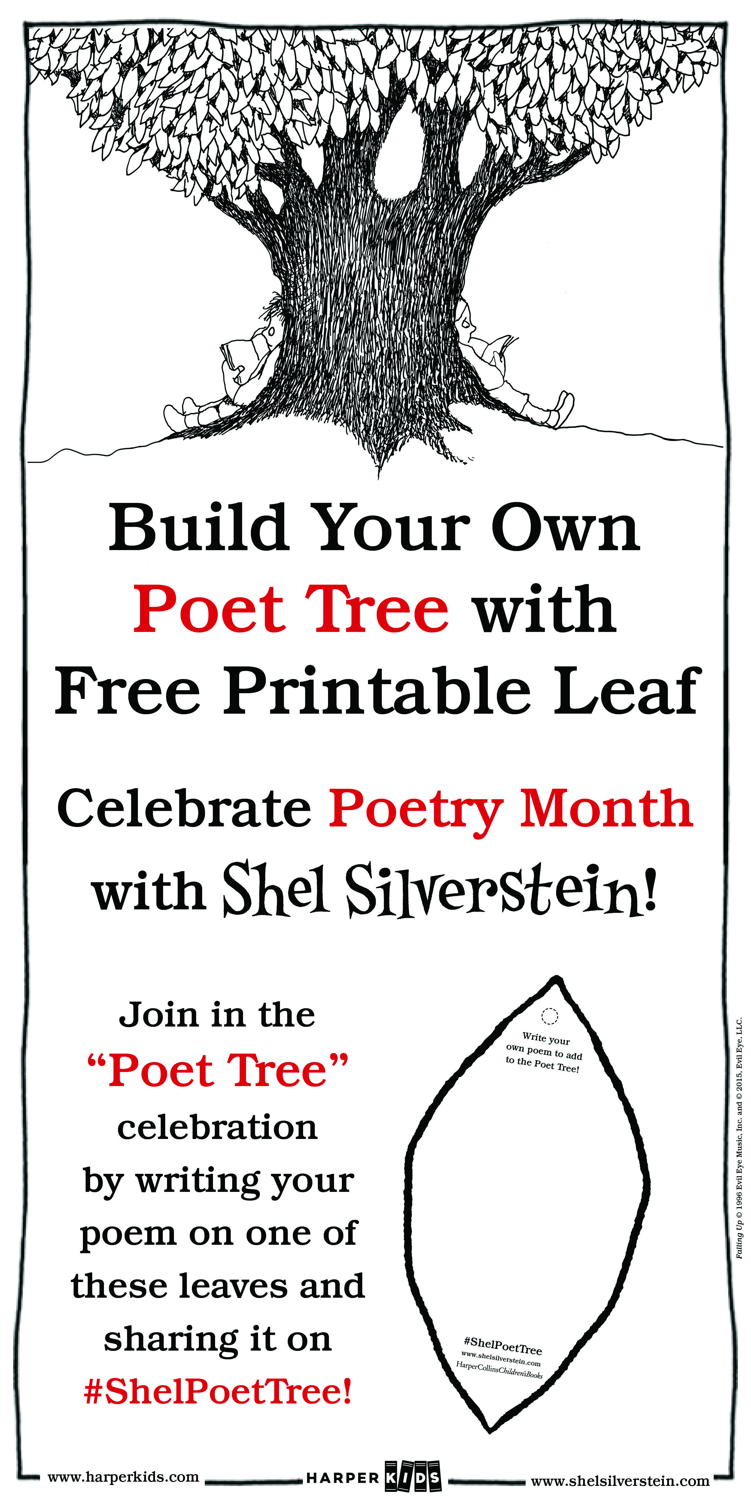 Create A Shelpoettree With This Downloadable Leaf
