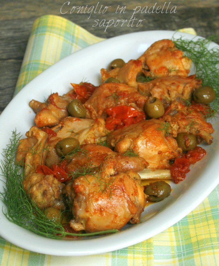Coniglio In Padella Saporito Ricette Ricetta Pollo Alla Cacciatora Ricette Con Pollo