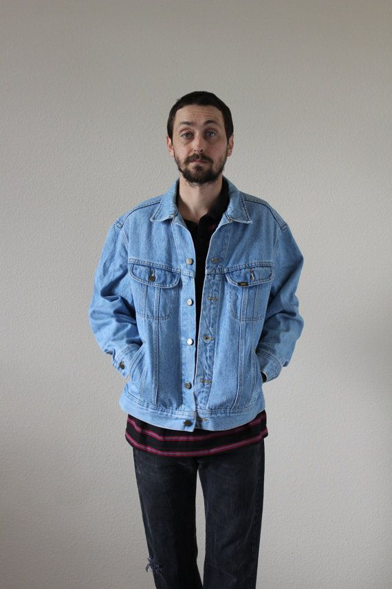 Levis Light Wash Oversized Denim Jacket Mens XL | Levis, Jackets ...