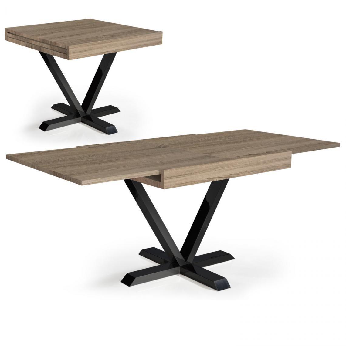 table basse design retractable effet