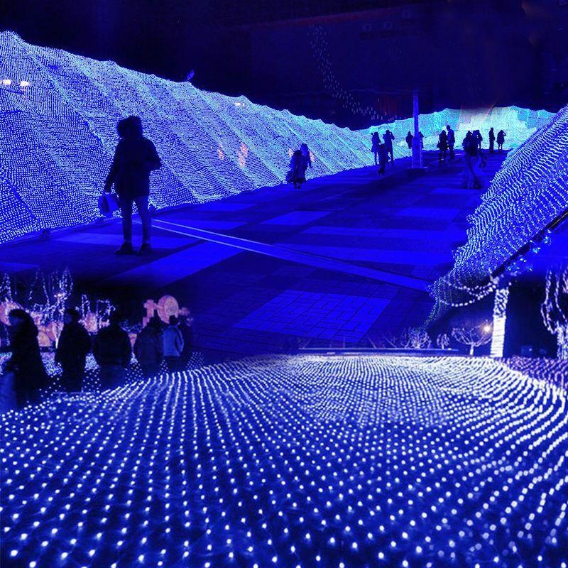 3M x2M 210 LED Fairy String Xmas Tree Mesh Curtain Ceiling House
