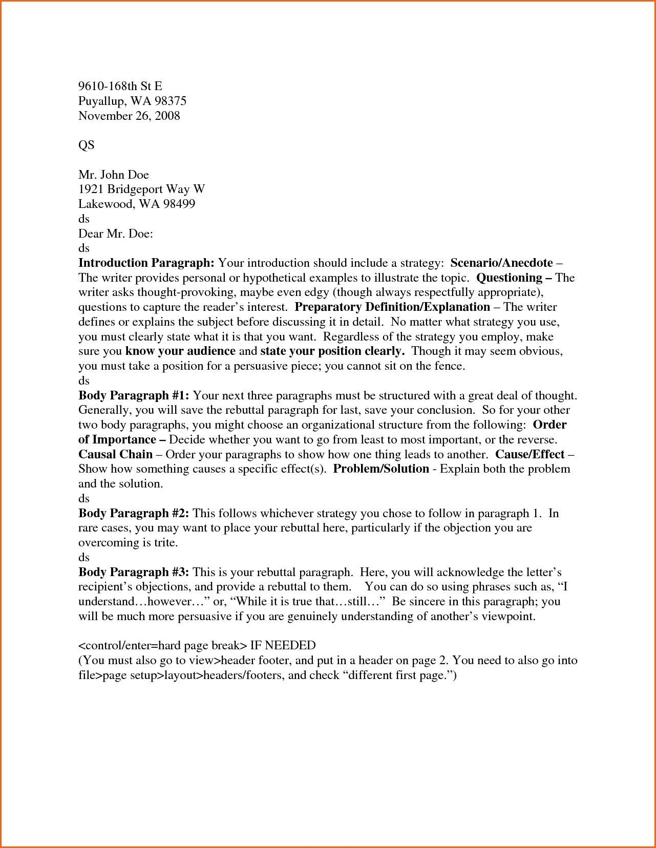 25 Cover Letter Header Business Format Heading Example New Examples