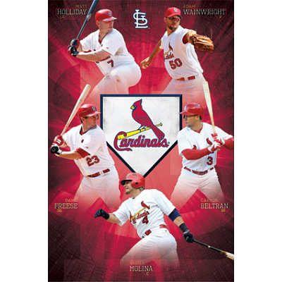 St Louis Cardinals Team Baseball Poster 22x34 Cardinals Team Baseball Posters St Louis Cardinals