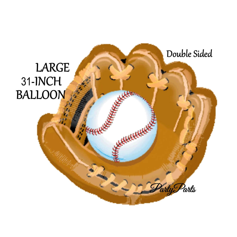 Baseball balloon, glove, mitt, catcher, sports party