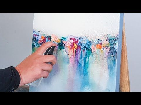 NEW Abstract Acrylic Painting - Colorful Reflections / How to paint easy