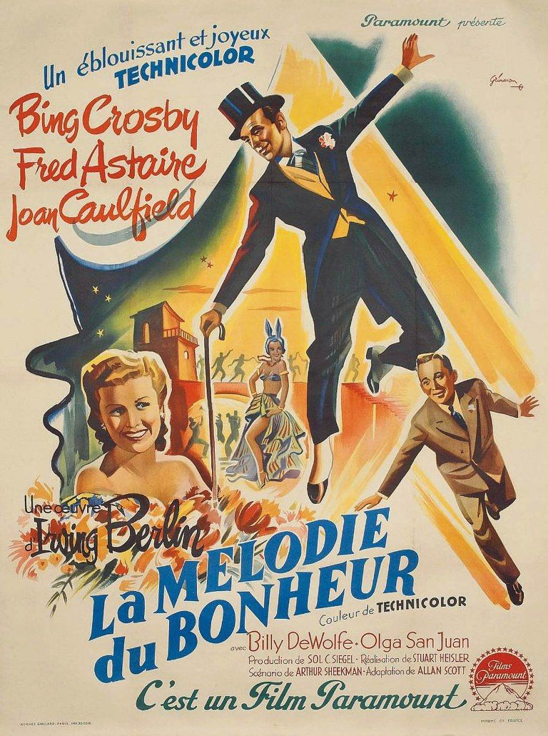 la melodie du bonheur fred astaire pinterest movie posters bing crosby and movies. Black Bedroom Furniture Sets. Home Design Ideas