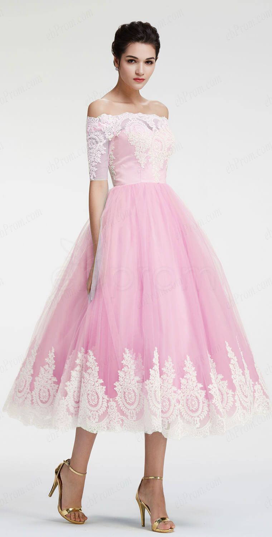 Light pink off the shoulder homecoming dresses