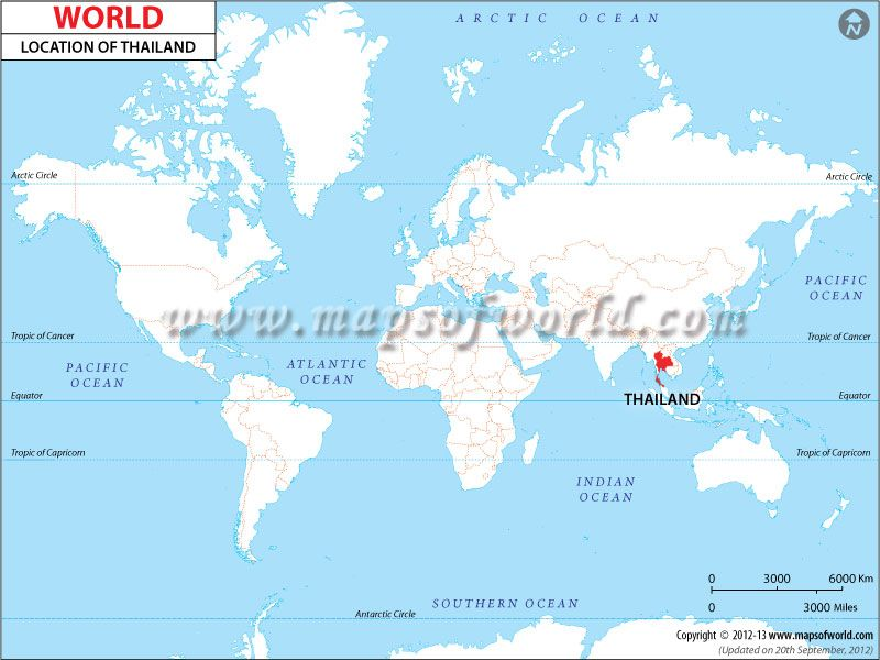 Thailand #Location #Map shows where is Thailand present in ...