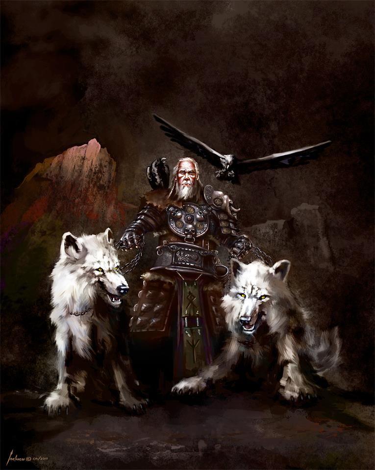 Image of Odin wolves Wolf symbol