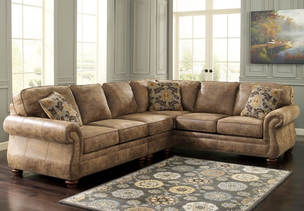 Inspiring Sectional Couches For Your Living Room Furniture Ideas: Elegant  Brown Leather Sectional Couches With