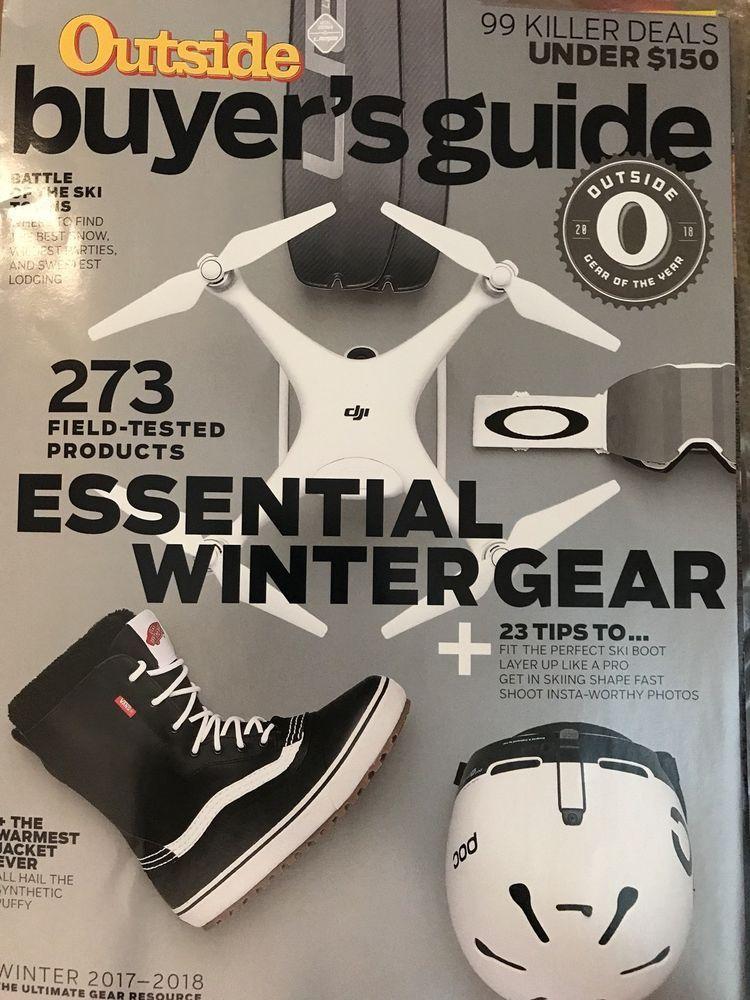 outside magazine winter buyer guide 2017 2018 essential gear killer rh pinterest com Wisconsin Buyer Guides Auto Buyer Guide