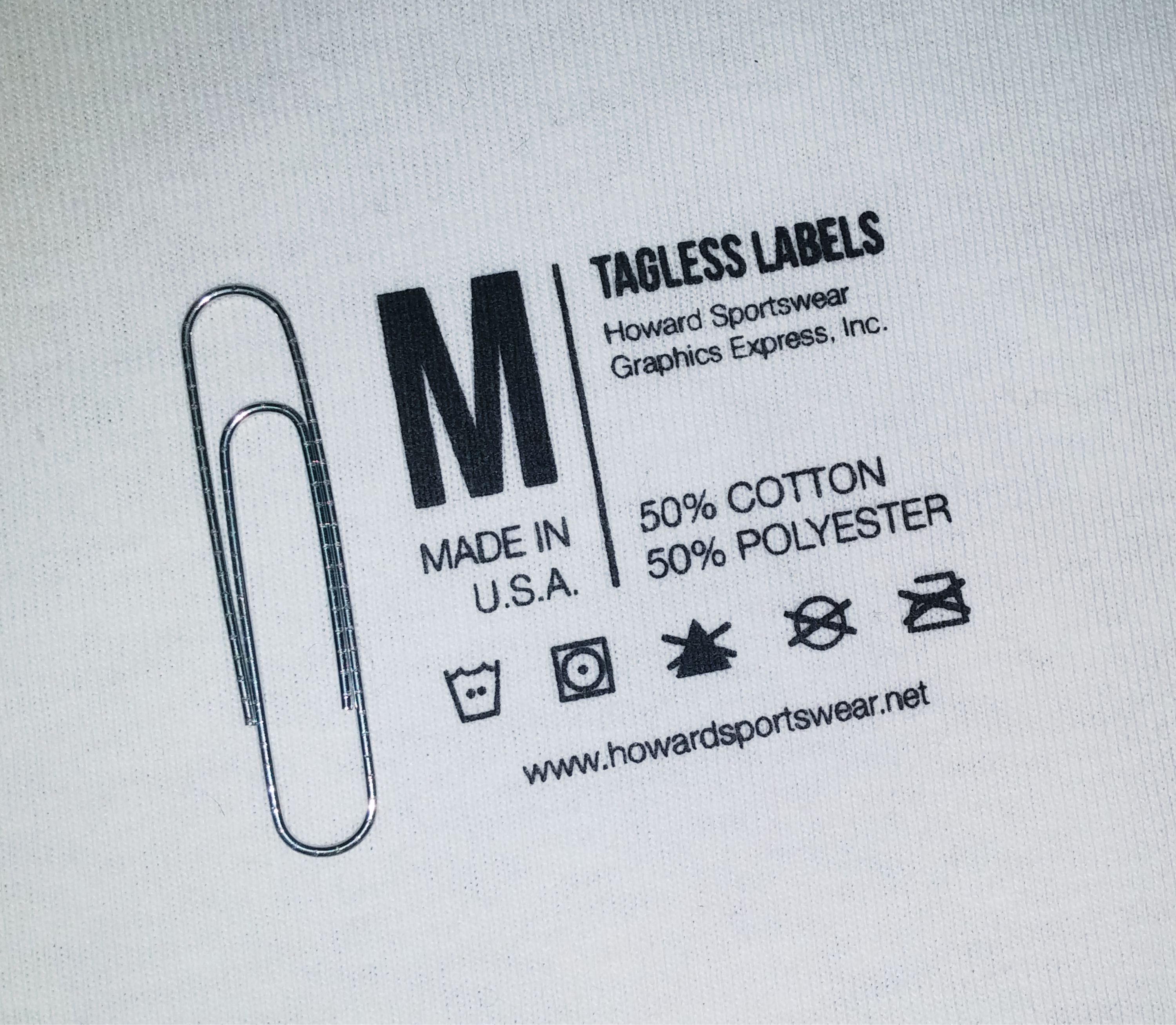 Custom tagless labels howard multi purpose heat for Heat transfer labels for t shirts