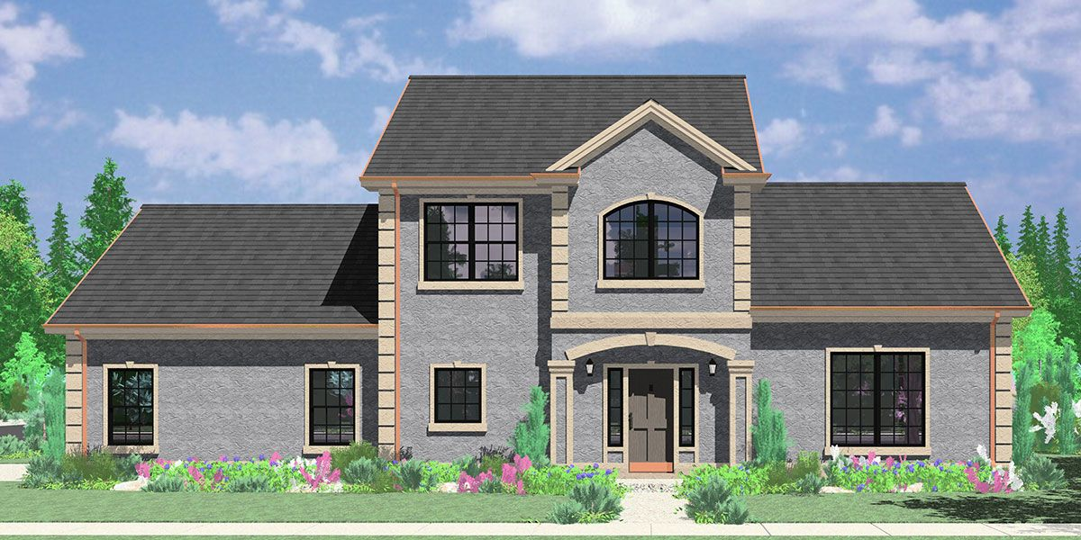 Two Story House Plans Side Entry Garage Corner Lot Master Colonial With Foyer Garage House Plans Craftsman House Plans Garage Plans Detached