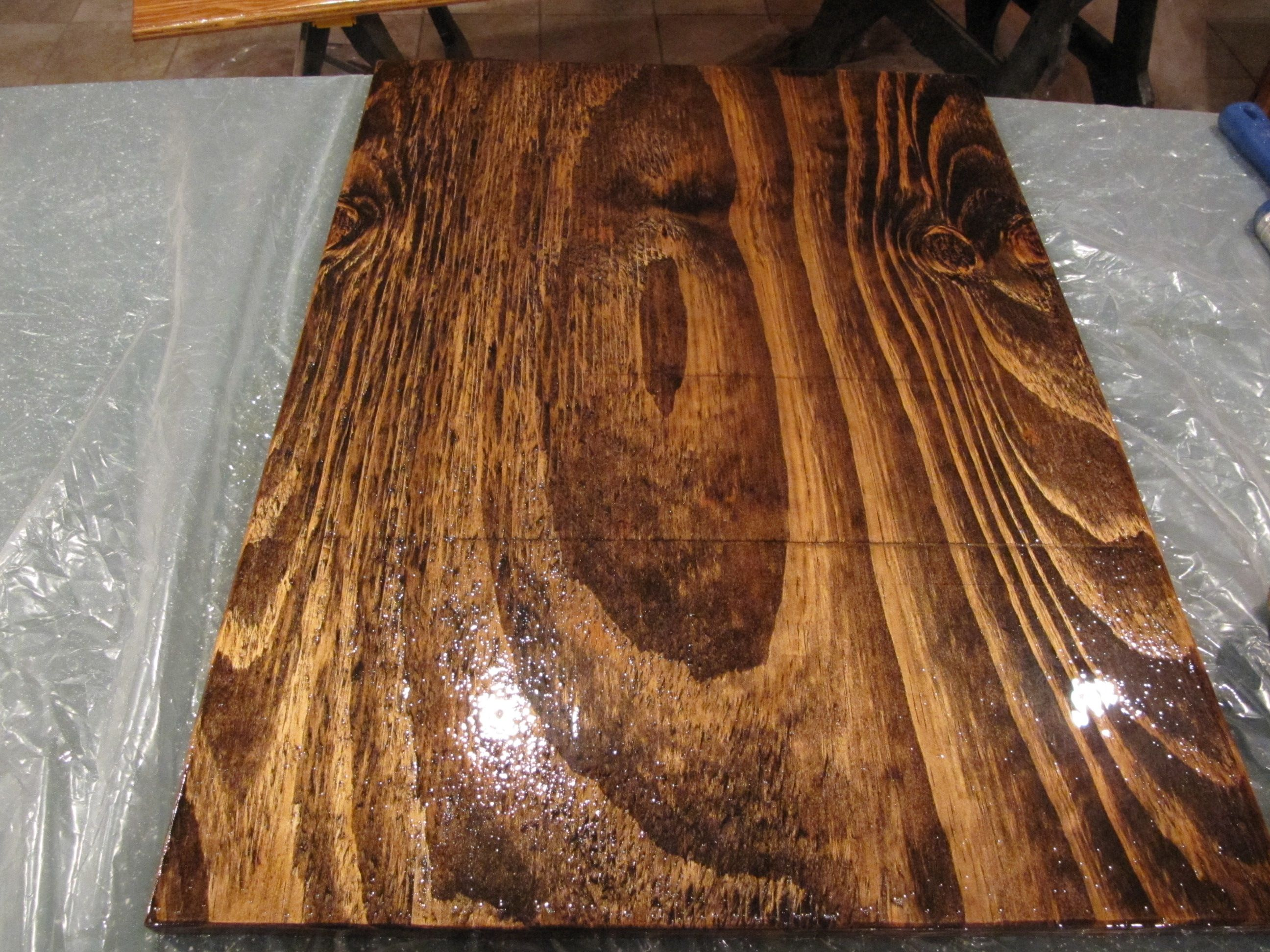 Normal Piece Of Construction Grade Plywood Three Coats Of