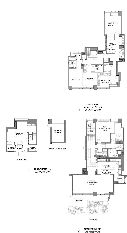 150 Charles St Apt M5 New York Ny 10014 Zillow Pent House Floor Plans New York