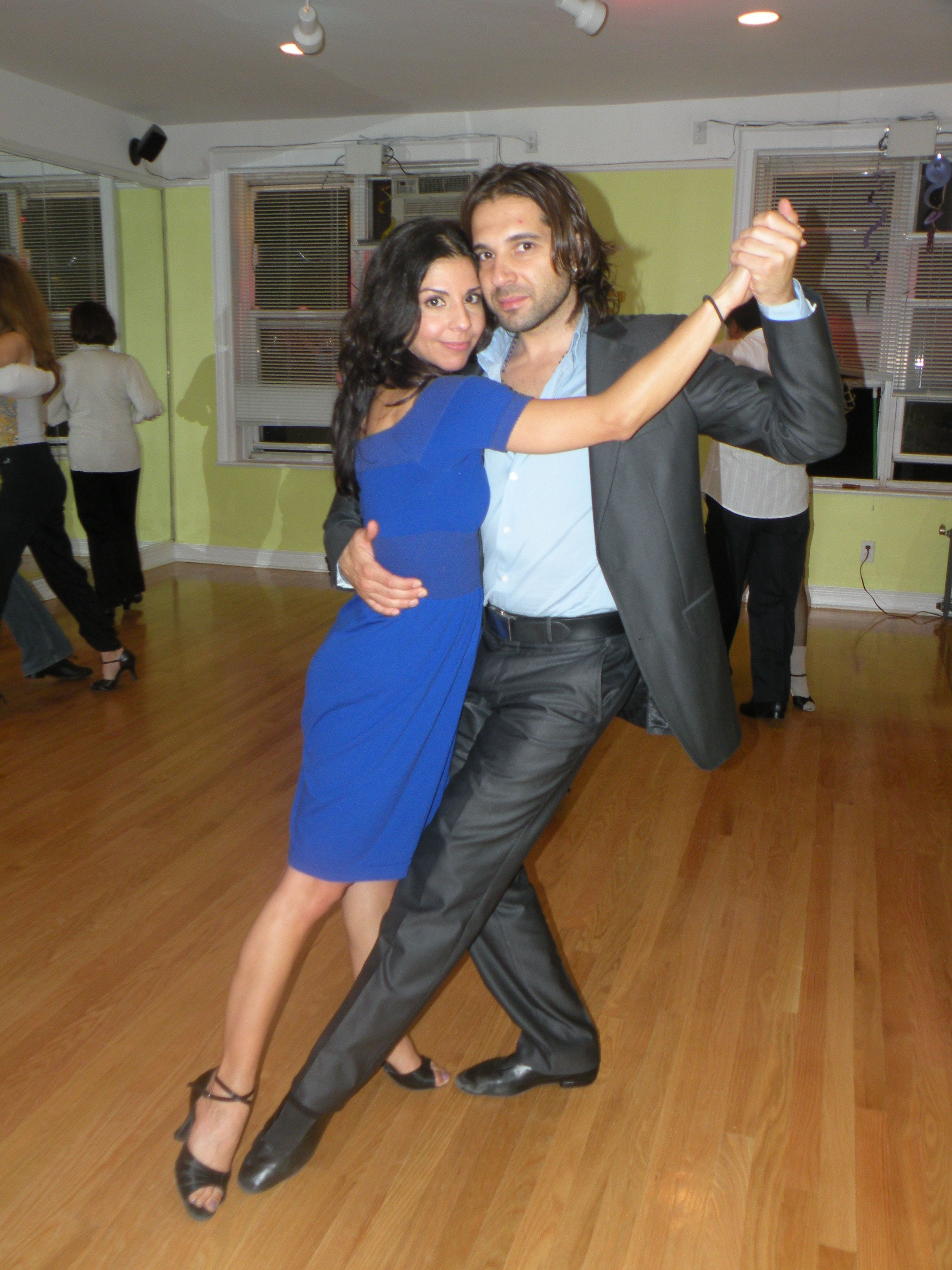 Wedding Couple Learning Tango For Their First Dance At Fever Studios In Brooklyn