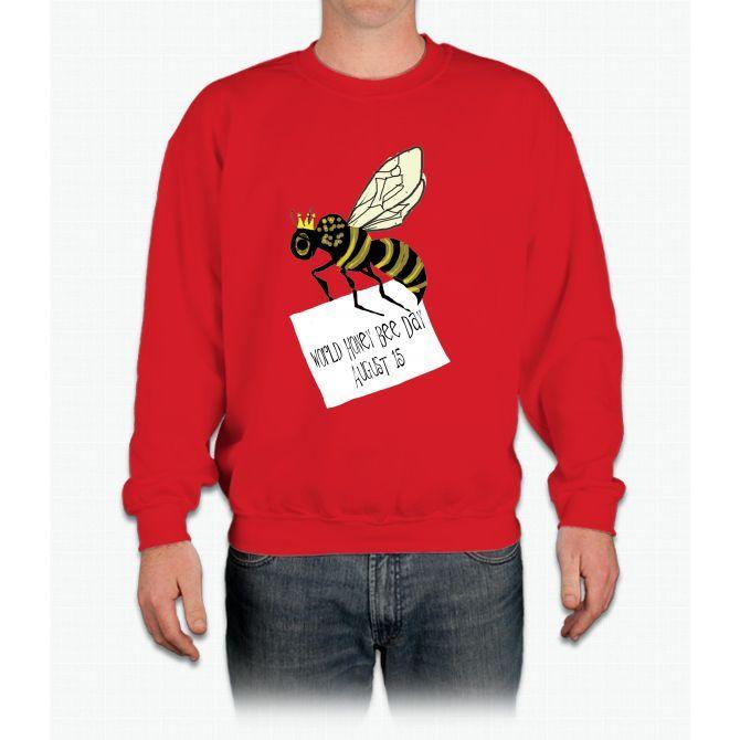 World Honey Bee Day Is August 15th Bee Movie Crewneck Sweatshirt
