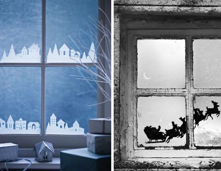 vitres id es de bricolage d corations de no l no l en. Black Bedroom Furniture Sets. Home Design Ideas