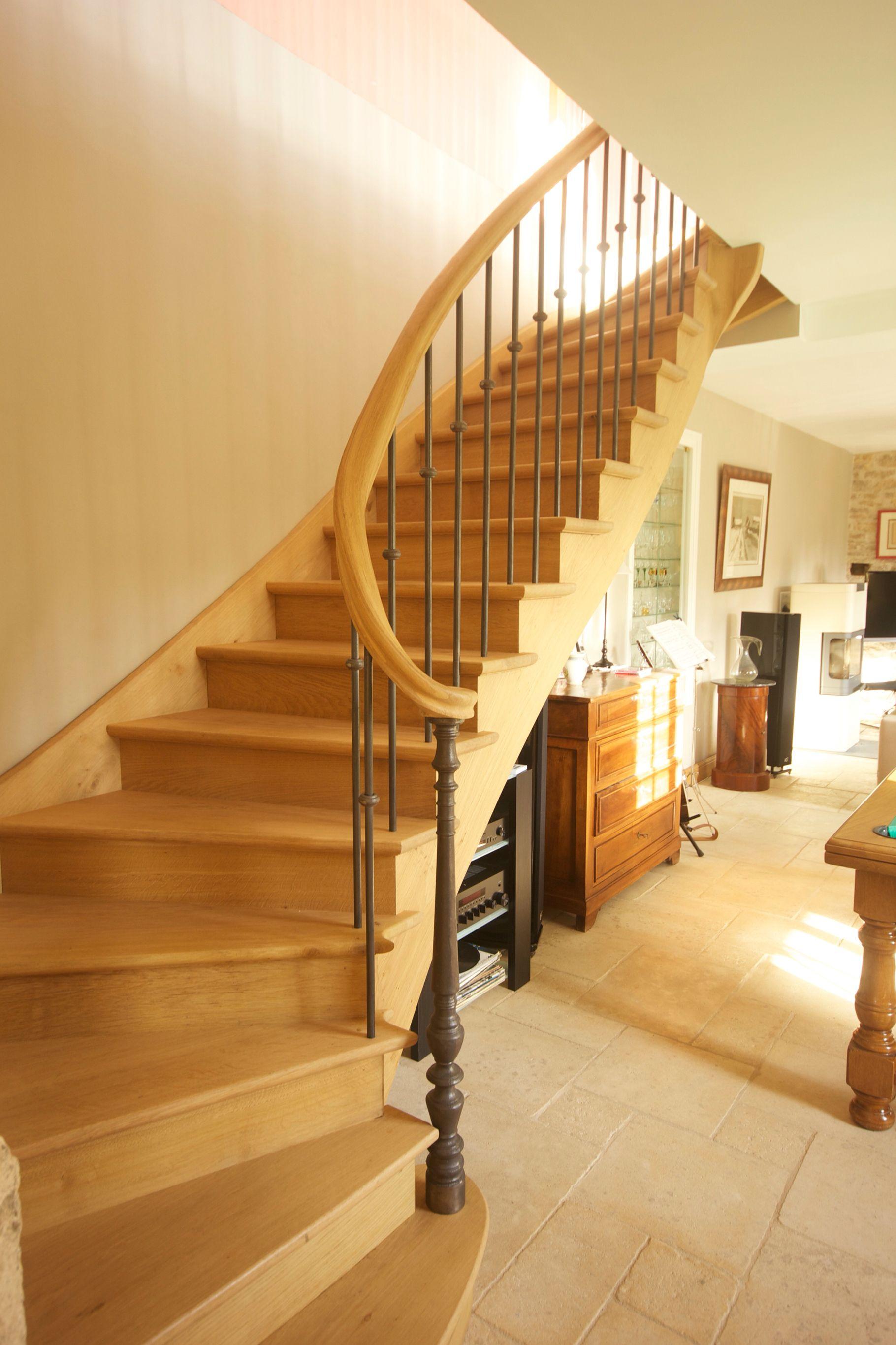 Escalier A 2 Quarts Tournants En Chene Escaliers A L