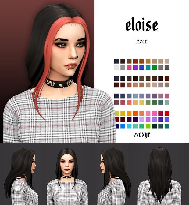 Evoxyr's Eloise Hair - Sweet Sims 4 Finds