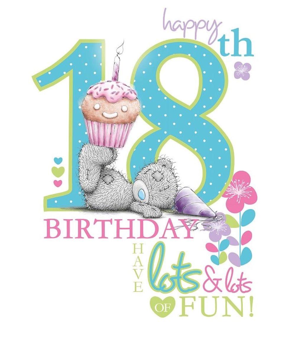 Happy 18th Birthday Verjaardagskaart Verjaardagswensen Verjaardagskaarten