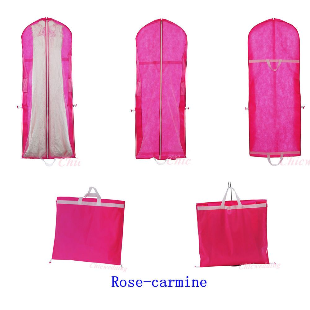 Bridal Garment Bags Wedding/Evening Ball Gown Dress Clothes Cover ...
