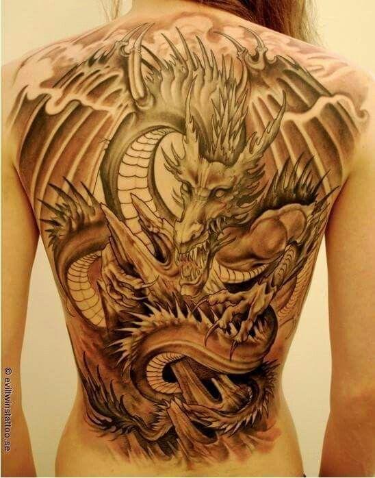 Dragon Espalda Tatuajes Dragones Tatuajes Tatuaje De Dragon